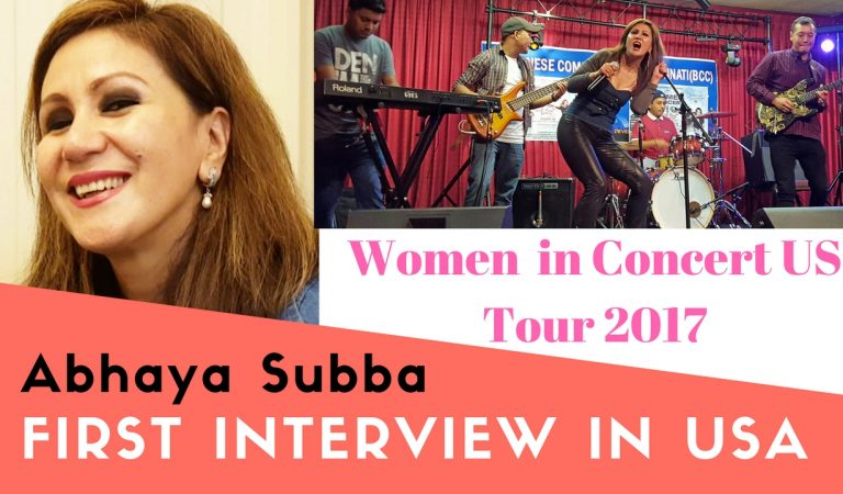 Women can come a long way with men's support | Abhaya Subba's first video interview in the USA